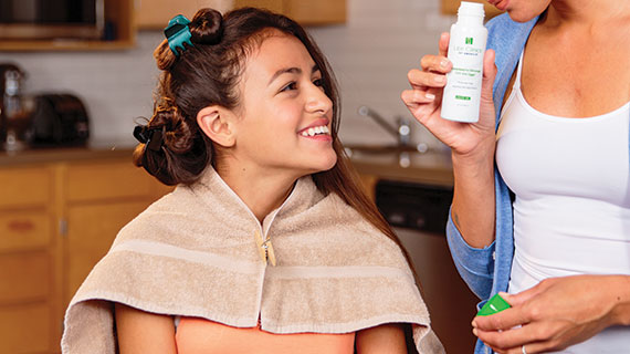 At-home lice treatment preparation